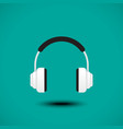 Earphone sign vector image