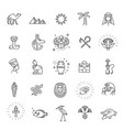 egypt icons and design elements isolated vector image