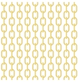 Gold chain seamless vector image
