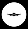 one military bomber airplane simple black icon vector image