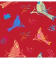 Parrot Bird Seamless Background vector image