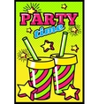 Party Time Comic Style Poster vector image