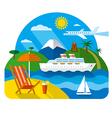 sea and ocean resort vector image