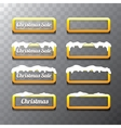 Christmas orange glossy buttons set vector image