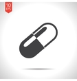 capsule pill icon Eps10 vector image