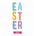 Happy Easter typography design Isolated on white vector image