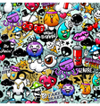 graffiti seamless texture vector image