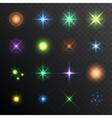 Light Glare Highlight Lens Flares Set Lighting vector image