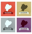 Concept of flat icons with long shadow Ecuador map vector image