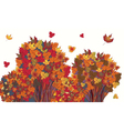 Banner with autumn maple trees vector image