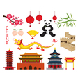 China Objects Set vector image