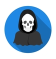 Death icon in flat style isolated on white vector image