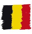 Flag of Belgium handmade vector image
