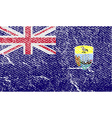 Flag of Saint Helena with old texture vector image