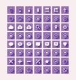 Flat Design Purple Icon Set vector image