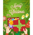 Flat Style Christmas Greeting Card vector image