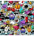 graffiti seamless texture vector image