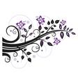Leaves flowers vector image