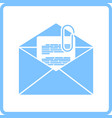 mail with attachment icon vector image