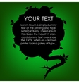 Silhouette Cloud Speech with Tree Leaf Green vector image