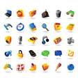 Realistic icons set for interface vector image vector image