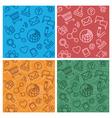 Internet community multicolor patterns vector image