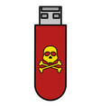 usb memory with skull vector image
