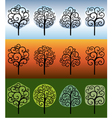Swirly trees vector image vector image
