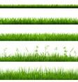 grass borders big set vector image vector image