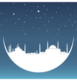 moon with mosque vector image vector image