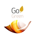 Go green nature concept vector image vector image