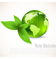 Earth and leaves vector image vector image