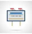 Advertising billboard flat color icon vector image