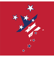 american flag stars background vector image