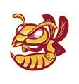angry female hornet mascot vector image