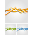 Bright stripes design vector image