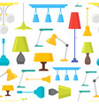 cartoon home illumination lamp background pattern vector image