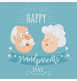 Happy grandparents day poster vector image