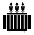 High voltage electrical transformer black symbol vector image