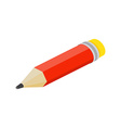 Isometric flat pencil on white background vector image