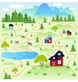 Nature map vector image