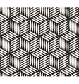 Seamless Black and White Hexagonal Lines vector image