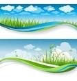 Summer grass banners vector image