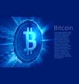virtual bitcoin digital currency consist of binary vector image