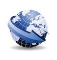 world map arrow vector image