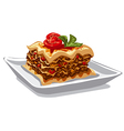 italian baked lasagna vector image vector image