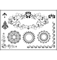 Frame and corner of the flourishes vector image vector image