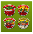 tomato sauces stickers vector image vector image