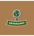 paper sticker on stylish background geography vector image