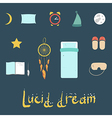 Set of icons on a theme of lucid dream vector image